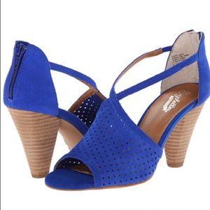 Seychelles Cobalt blue peep toe heels 9.5